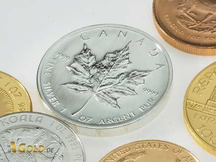 Silber-Anlagemünze Maple Leaf 1 oz