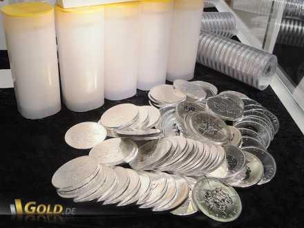 Maple Leaf Münzen und dazugehörige Tubes