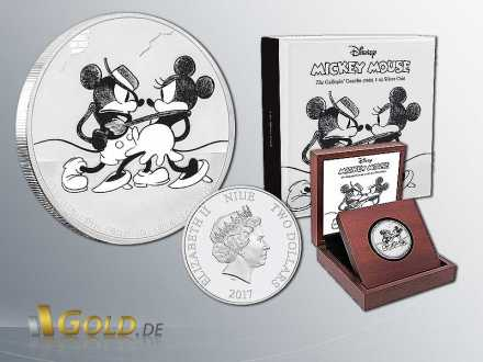 Disney 2016 Mickey Mouse Througe the Age - The Gallopin Gaucho 1 oz Silbermünze-