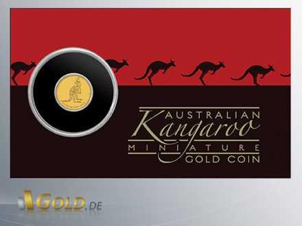 Mini Roo Gold-Münze 2016, 0,5 g Gold, Blister