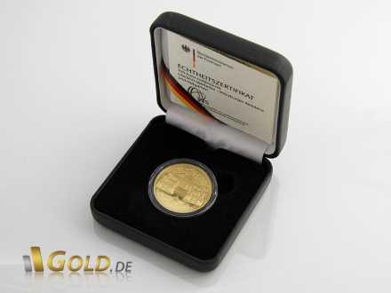Gold-Euro in Schatulle mit Echtheits-Zertifikat