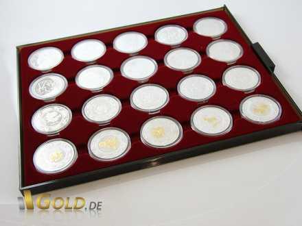 Münz-Tableau für gekapselte Münzen