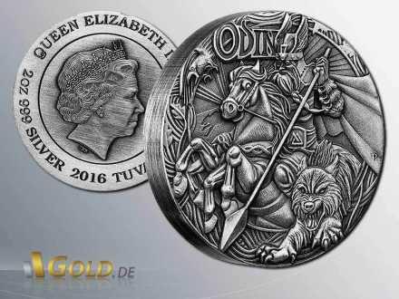 Norse Gods-Odin, 2016, 2oz Silbermünze