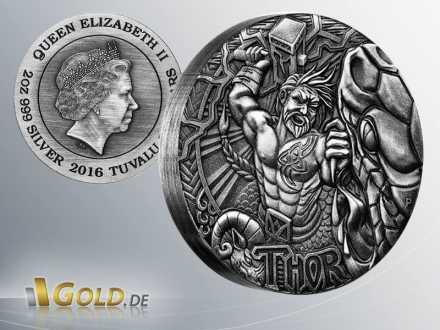 Norse Gods-Thor, 2016, 2oz Silbermünze
