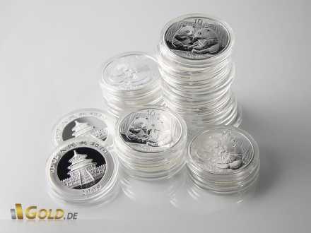 1 oz Silber Panda Münzen, gekapselt