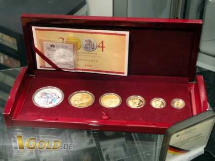 Set China Panda Gold und China Lunar von 2004