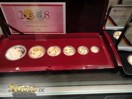 Set China Panda Gold und China Lunar von 2008