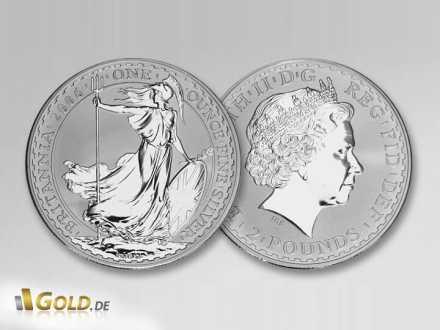 1 oz Silber Britannia aus Großbritannien