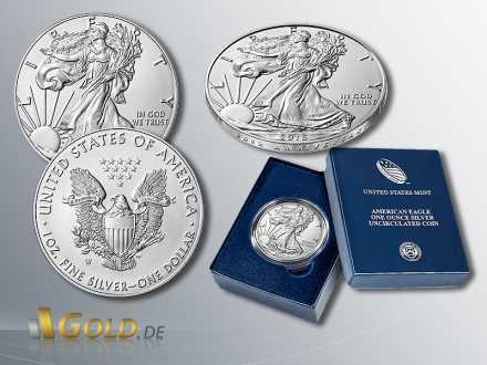 American Eagle 1 oz - 2016 Uncirculated 30th Anniversary Silbermünze