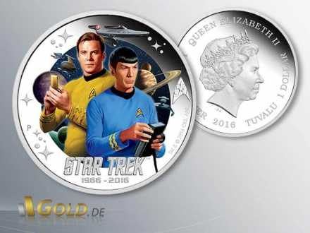 Star Trek 2016 Perth Mint Kirk und Spock 2-Silbermünzen-Set Proof