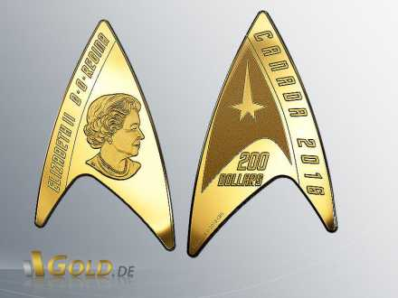Royal Canadian Mint Deltamünze 50 Jahre Star Trek Gold 16,2 g 2016