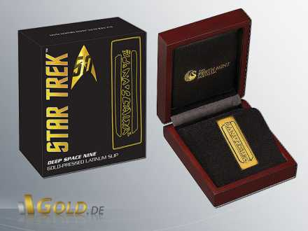 Star Trek 2016 Perth Mint Deep Space Nine Goldgepresstes Latinum (Gilded) Shipper