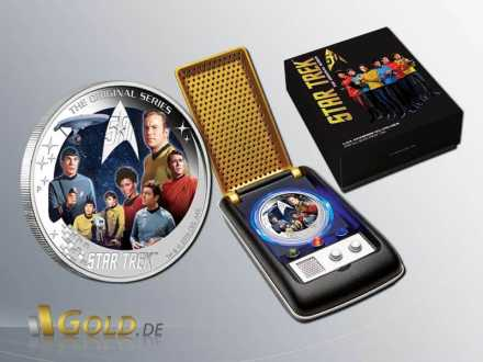 Star Trek 2016 Perth Mint Crew Silbermünze Proof Shipper