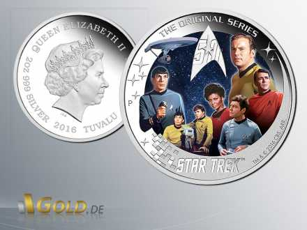 Star Trek 2016 Perth Mint Crew Silbermünze Proof
