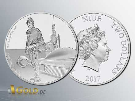 Star Wars Classic 2016 Luke Skywalker 1 oz Proof Silbermünze