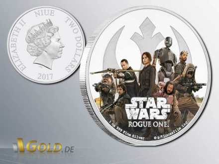 Star Wars-Rouge One 2017 Rebellion Proof 1 oz Silbermünze