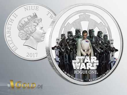 Star Wars-Rouge One 2017 The Empire Proof 1 oz Silbermünze