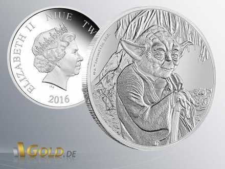 Star Wars Classic Yoda 2016 1 oz Proof