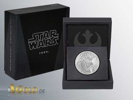 Star Wars Classic Yoda 2016 1 oz Proof Shipper