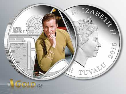 Star Trek, Raumschiff Enterprise - Captain James T. Kirk, 1 oz Silber-Münze