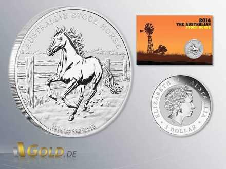 Australian Stock Horse 2014 1 oz Silbermünze