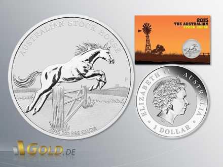 Australian Stock Horse 2015 1 oz Silbermünze