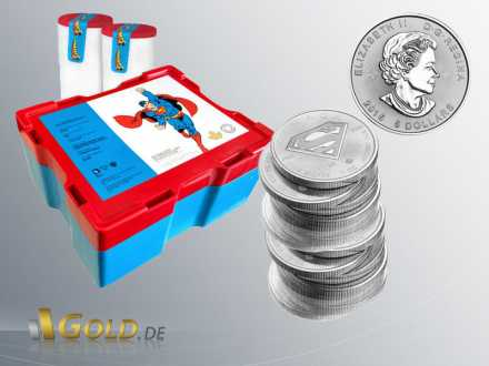 Superman 1 oz Royal Canadian Mint 2016 Masterbox und Tubes