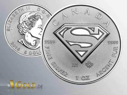 Superman 1 oz Royal Canadian Mint 2016
