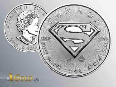 Superman 1 oz Royal Canadian Mint 2016