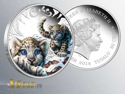 The Cubs - Snow Leopard 2016 1/2oz Silber Colored Proof