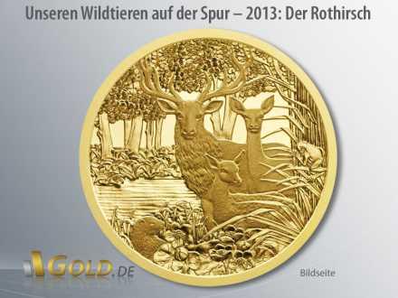 Unseren Wildtieren auf der Spur, Österreich, Erst-Ausgabe 2013: Der Rothirsch - Bildseite