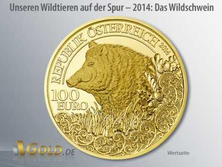Wildtiere Österreich in Gold 2014: Das Wildschwein (Wertseite)