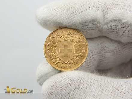 20 Franken Gold Vreneli