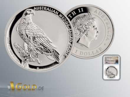 Wedge Tailed Eagle 2016 1oz Silbermünze im NGC Blister