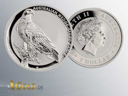 Wedge Tailed Eagle 2016 1oz Silbermünze