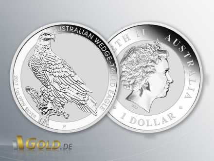 Wedge Tailed Eagle 2017 Silber 1 oz Bullionmünze