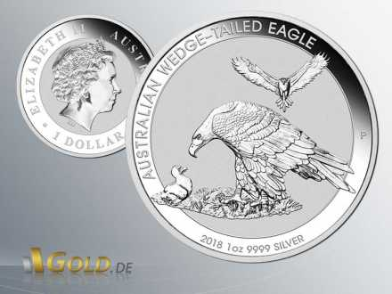 Wedge Tailed Eagle 2018 Silber 1 oz Bullionmünze