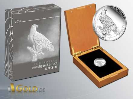 Wedge-tailed-Eagle 2016 1 oz Platinmünze Shipper