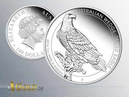 Wedge-tailed-Eagle 2016 1 oz Platinmünze