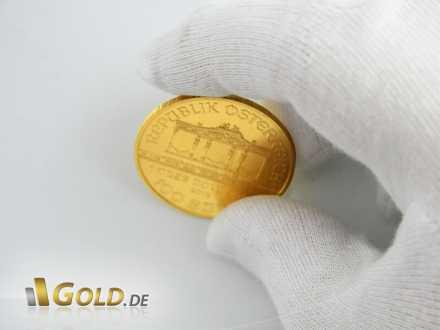 Goldmünze Wiener Philharmoniker, 1 oz, mit Orgel-Motiv