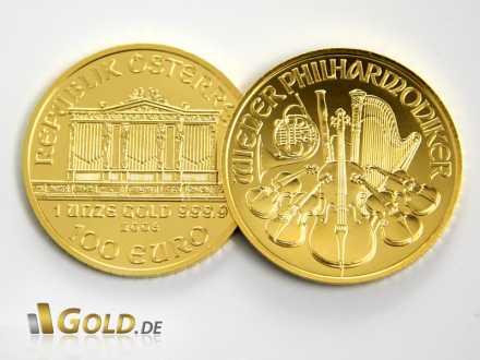 Wiener Philharmoniker in Gold, Wertseite und Bildseite