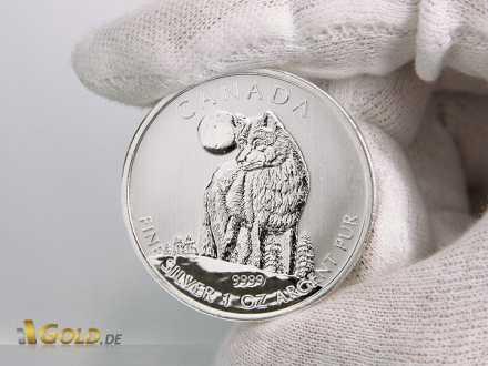 Wolf Silber, 1. Motiv der Canadian Wildlife Serie