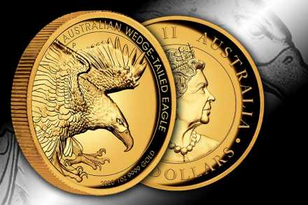 Wedge-Tailed Eagle 2020 Gold High Relief - Neues Motiv