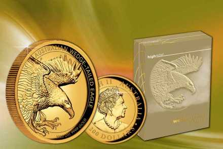 Wedge-Tailed Eagle Gold 2020 2 oz PP High Relief - Hier neu!