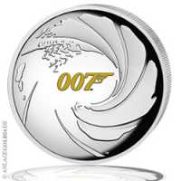 James Bond 007 PP, High Relief, Gilded
