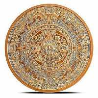 2 Unzen AVDP Copper Round Aztekenkalender