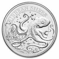 Barbados 2021 Karibischer Octopus Silber 1 oz