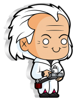 Chibi - Back to the Future Doc Brown PP, Coloriert