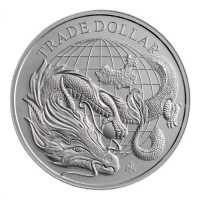 St. Helena 2021 Modern Chinese Trade Dollar Silber 1 oz