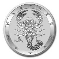 Tokelau 2021 Zodiac - Sternzeichen Skorpion - Scorpio Silber 1 oz silver